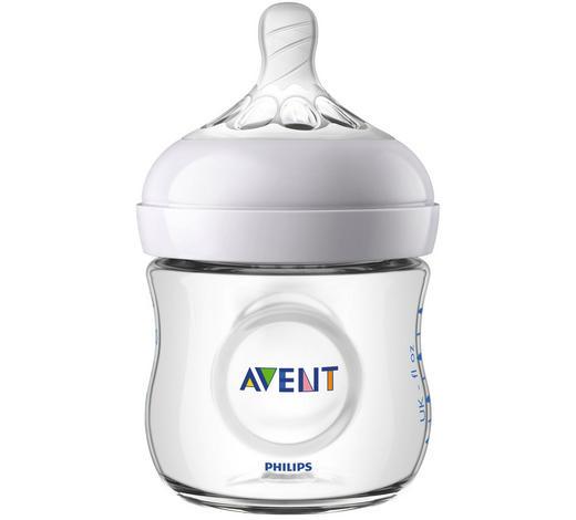 FLÄSCHCHENSET - Transparent, Basics, Glas/Kunststoff (14,2/12,2/7,1cm) - Avent