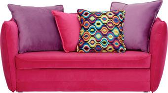 ROZKLÁDACÍ POHOVKA - růžová/černá, Design, textil/umělá hmota (145/63/77/75cm) - TI`ME