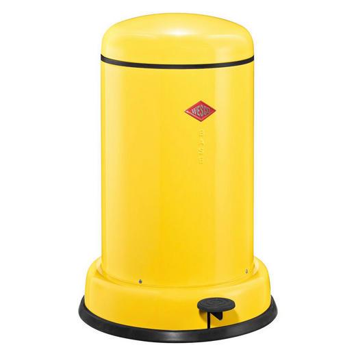 ABFALLSAMMLER BASEBOY 15 L - Edelstahlfarben/Gelb, Metall (36,2/53,5cm) - Wesco