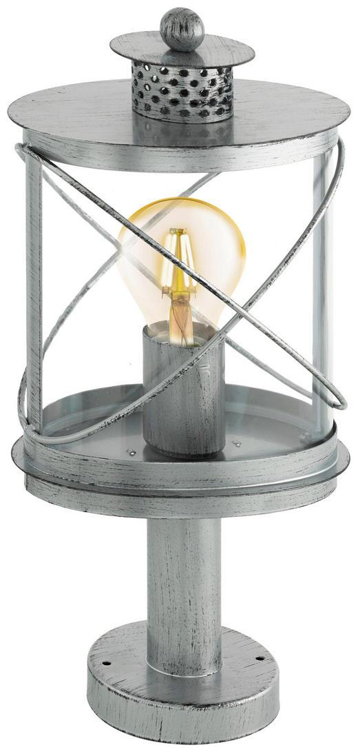 POLLERLEUCHTE Silberfarben, Zinkfarben - Silberfarben/Zinkfarben, Basics, Kunststoff/Metall (20/13,5/41cm)