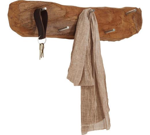 WANDGARDEROBE - Teakfarben, Trend, Holz/Metall (60/12-15/12-14cm) - Ambia Home