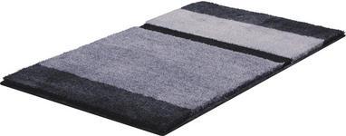 BADTEPPICH  Anthrazit, Grau, Silberfarben  70/120 cm     - Anthrazit/Silberfarben, KONVENTIONELL, Kunststoff/Textil (70/120cm) - Ambiente