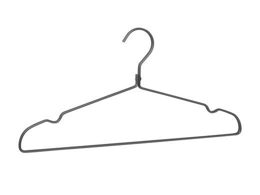 KLEIDERBÜGEL - Grau, Design, Metall (41cm)