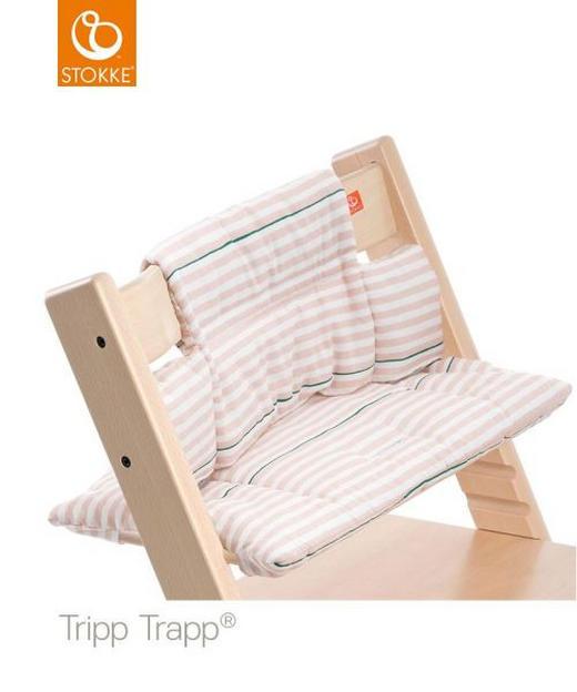 Tripp Trapp Sitzkissen Pink Stripes - Rosa/Weiß, Basics, Textil (28/21/7cm) - Stokke