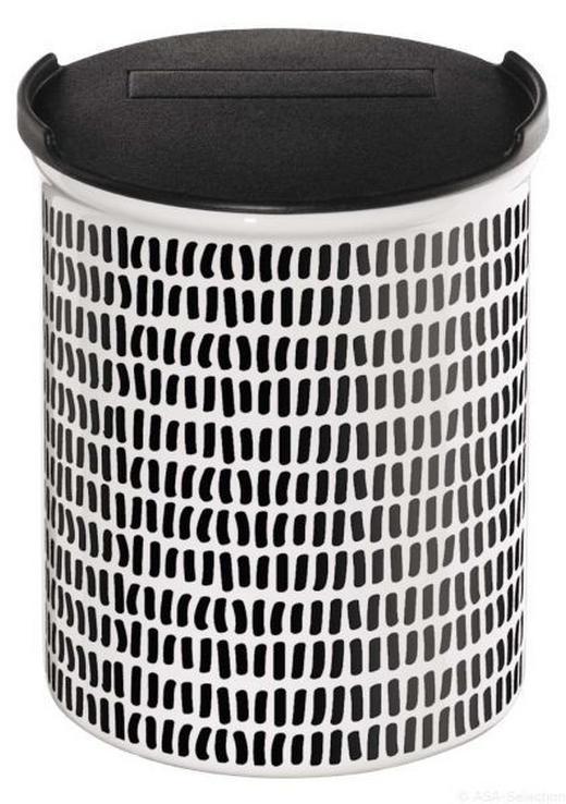 VORRATSDOSE - Schwarz/Weiß, Design, Keramik (9,5/10cm)