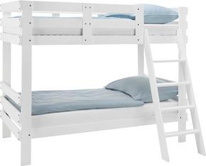 VÅNINGSSÄNG - vit, Modern, trä (205/165/100cm) - Carryhome