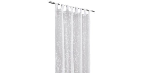 SCHLAUFENSCHAL  transparent  140/245 cm - Weiß, KONVENTIONELL, Textil (140/245cm) - Boxxx