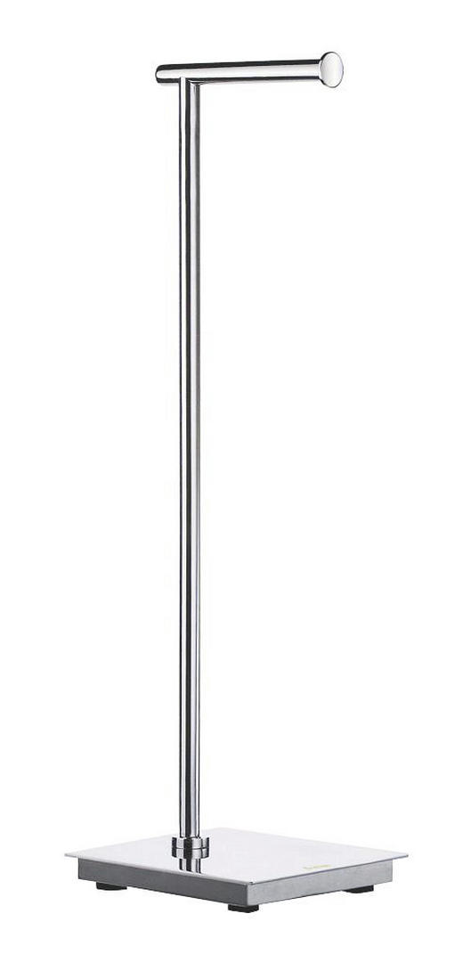 TOILETTENPAPIERHALTER - Edelstahlfarben, Basics, Metall (17,5/60/17,5cm)