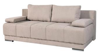TROSED,  bež tekstil - bež/nikelj, Design, umetna masa/tekstil (200/90/95cm) - Cantus