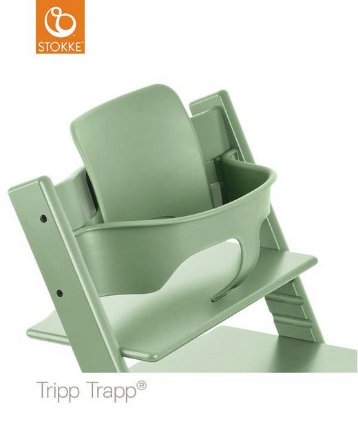 TRIPP TRAPP BABY SET Moss Green - Apfelbaumfarben/Mintgrün, Basics, Kunststoff (43/19/22cm) - Stokke
