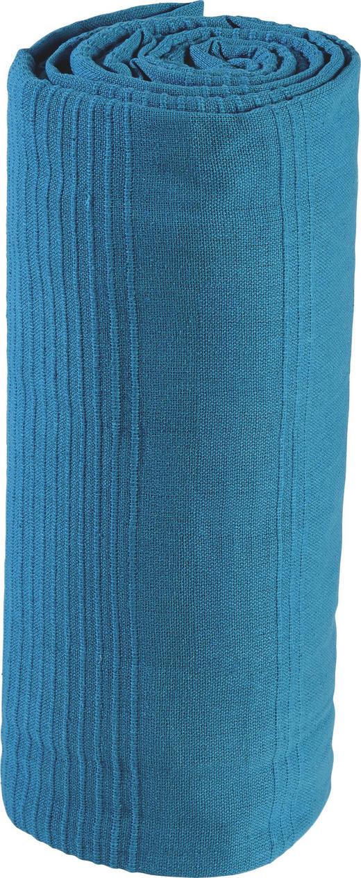 ÜBERWURF 220/240 cm - Türkis, Basics, Textil (220/240cm) - Boxxx