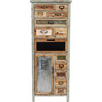 KOMMODE Tanne furniert, massiv Braun, Grau, Naturfarben, Zinkfarben - Zinkfarben/Braun, Design, Holz/Metall (49,6/127/32,5cm) - Kare-Design