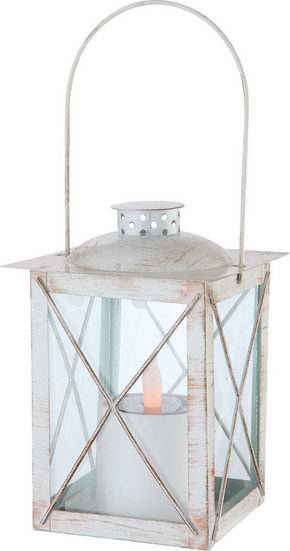 LAMPA FÖR UTOMHUSBRUK - vit/guldfärgad, Lifestyle, metall (14,5/14,5/33,5cm)