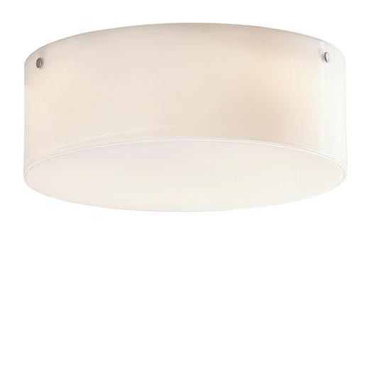 DECKENLEUCHTE - Weiß, Design, Glas (25/10cm)