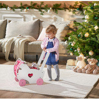 PUPPENWAGEN - Pink/Weiß, Basics, Holz (47,5/30,5/48cm) - My Baby Lou