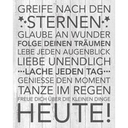 Textmotive KEILRAHMENBILD - Dunkelgrau/Hellgrau, KONVENTIONELL, Holz/Textil (40/50/2,0cm) - EUROGRAPHICS