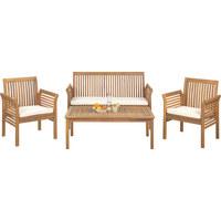 VRTNA GARNITURA - boje tikovine/natur boje, Lifestyle, drvo/tekstil (62/78/61,5cm) - Ambia Garden