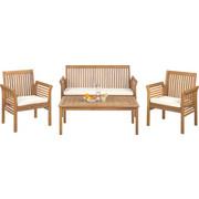 VRTNA GARNITURA - boje tikovine/prirodne boje, Lifestyle, drvo/tekstil (62/78/61,5cm) - Ambia Garden