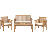 VRTNA GARNITURA - boje tikovine/prirodne boje, Romantično / ladanjski, drvo/tekstil (62/78/61,5cm) - Ambia Garden
