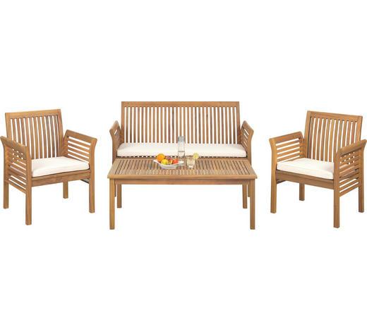 VRTNI SET akacija masivno  - naravna/tikovina, Trendi, tekstil/les (62/78/61,5cm) - Ambia Garden
