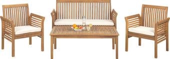 ZAHRADNÍ SADA - barva teak/přírodní barvy, Lifestyle, dřevo/textil (62/78/61,5cm) - Ambia Garden