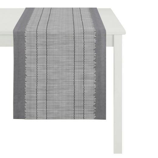 TISCHLÄUFER Textil Jacquard Grau 48/140 cm - Grau, Basics, Textil (48/140cm)