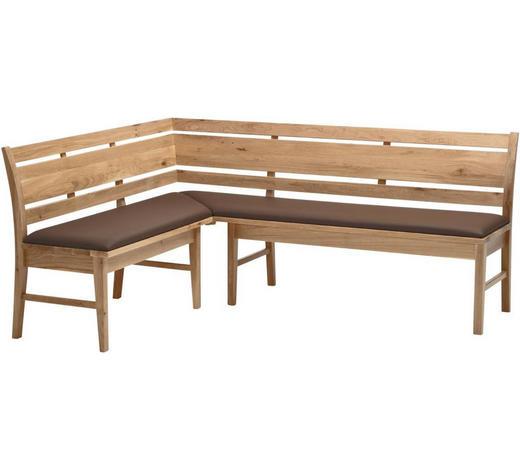 ECKBANK Wildeiche teilmassiv Eichefarben  - Eichefarben, KONVENTIONELL, Holz (150/190cm) - Venda