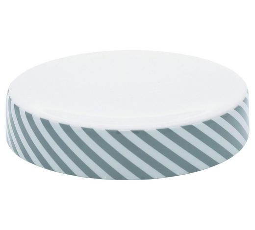 MÝDLENKA, šedá, bílá - šedá/bílá, Basics, keramika (12/2,7cm) - Sadena