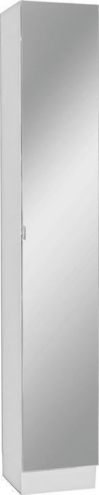 VISOKA OMARA 32,5/195,5/33 cm - bela/krom, Design, steklo/leseni material (32,5/195,5/33cm) - Xora