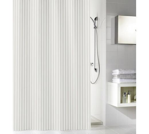 DUSCHVORHANG  Weiß 180/200 cm  - Weiß, Basics, Textil (180/200cm) - Kleine Wolke