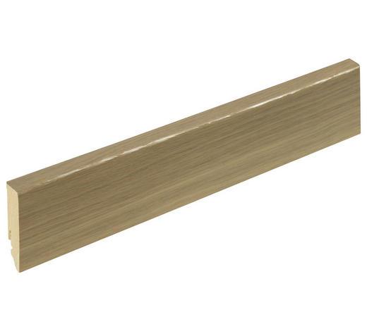 SOCKELLEISTE Eichefarben - Eichefarben, Basics, Holz (1,6/5,8/250cm) - Homeware