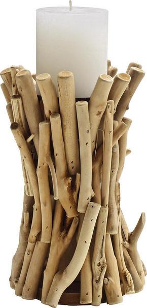 LJUSSTAKE - furufärgad, Natur, trä (14/22cm) - Ambia Home