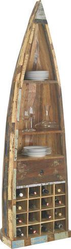 BOOTSREGAL - Braun, LIFESTYLE, Holz (58/205/45cm) - LANDSCAPE