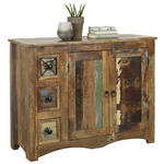 KOMMODE Recyclingholz massiv Multicolor  - Multicolor/Braun, LIFESTYLE, Holz/Metall (110/85/40cm) - Landscape