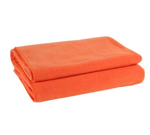 ODEJA SOFT FLEECE, ORANŽNA - oranžna, Konvencionalno, tekstil (160/200cm) - Zoeppritz