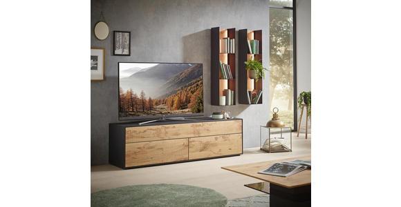 LOWBOARD 175/52/49 cm - Eichefarben/Anthrazit, Natur, Holz/Kunststoff (175/52/49cm) - Valnatura