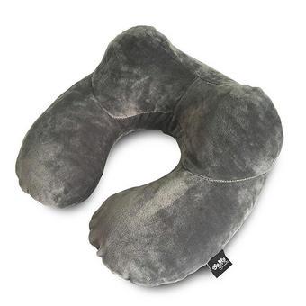 Nackenkissen aufblasbar - Grau, Basics, Textil (30/15/30cm)