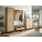 SCHUHSCHRANK Grau, Eichefarben  - Eichefarben/Grau, Trend, Holzwerkstoff/Kunststoff (87,1/108,5/41,3cm) - Hom`in