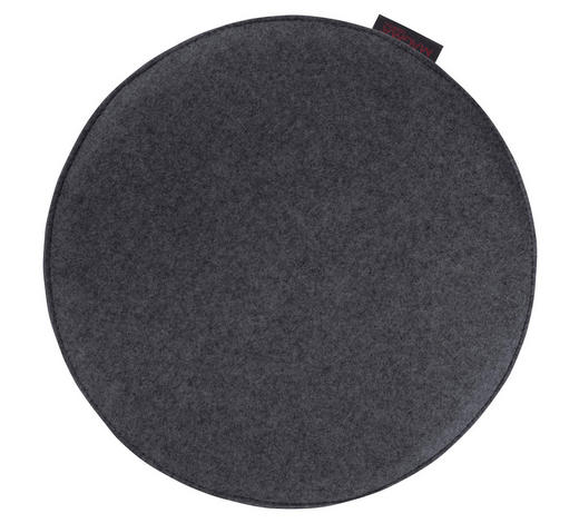 SITZKISSEN Anthrazit 35 cm  - Anthrazit, Basics, Textil (35cm)