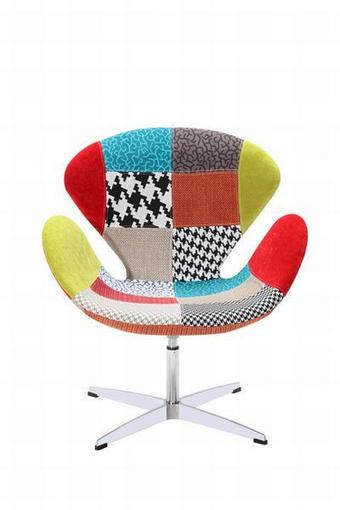 FOTELJA - višebojno, Design, metal/tekstil (74/81,5/61cm) - HOM IN