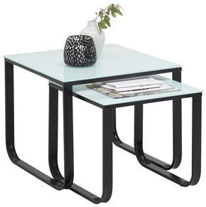 SATSBORD - mörkgrå/vit, Design, metall/glas (55+45/55+45/45+40cm) - Carryhome