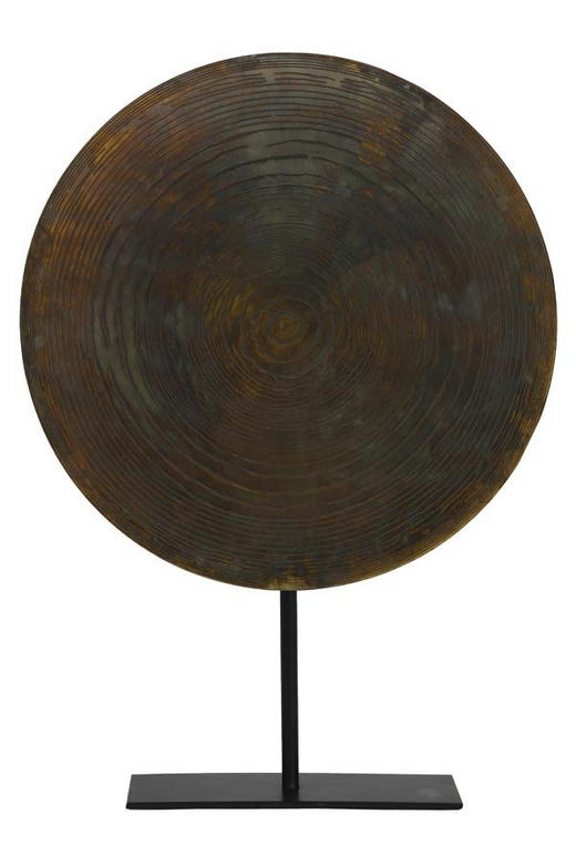 SKULPTUR - Bronzefarben, Design, Metall (40/56cm)