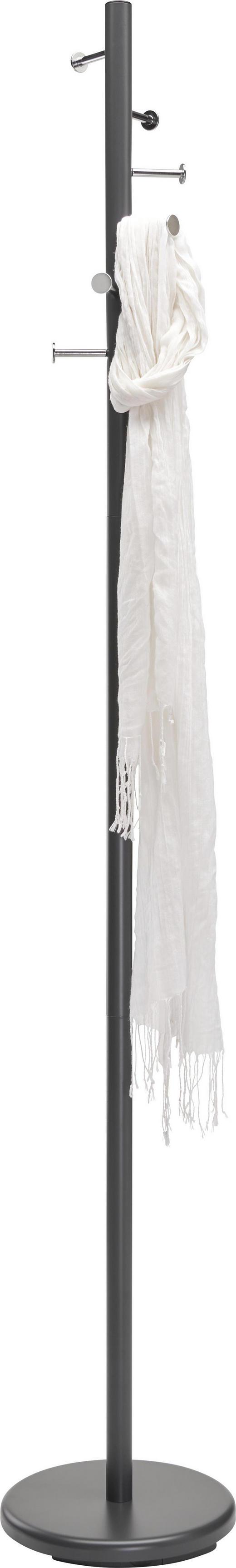 KLEIDERSTÄNDER Anthrazit, Chromfarben - Chromfarben/Anthrazit, Basics, Metall (29/180/29cm) - Xora