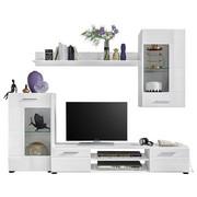 REGAL - bijela/boje srebra, Design, staklo/drvni materijal (230/190/40cm) - TI`ME