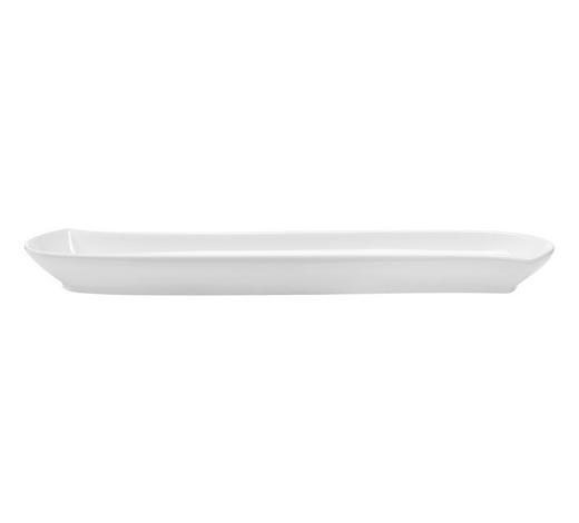 OLIVENSCHALE  - Weiß, Basics, Keramik (28,8/7,2/2,5cm) - Novel