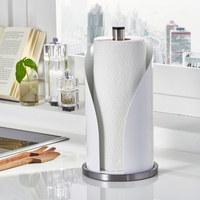 KÜCHENROLLENHALTER - Edelstahlfarben/Weiß, Basics, Metall (15,6/35,2cm) - Wesco