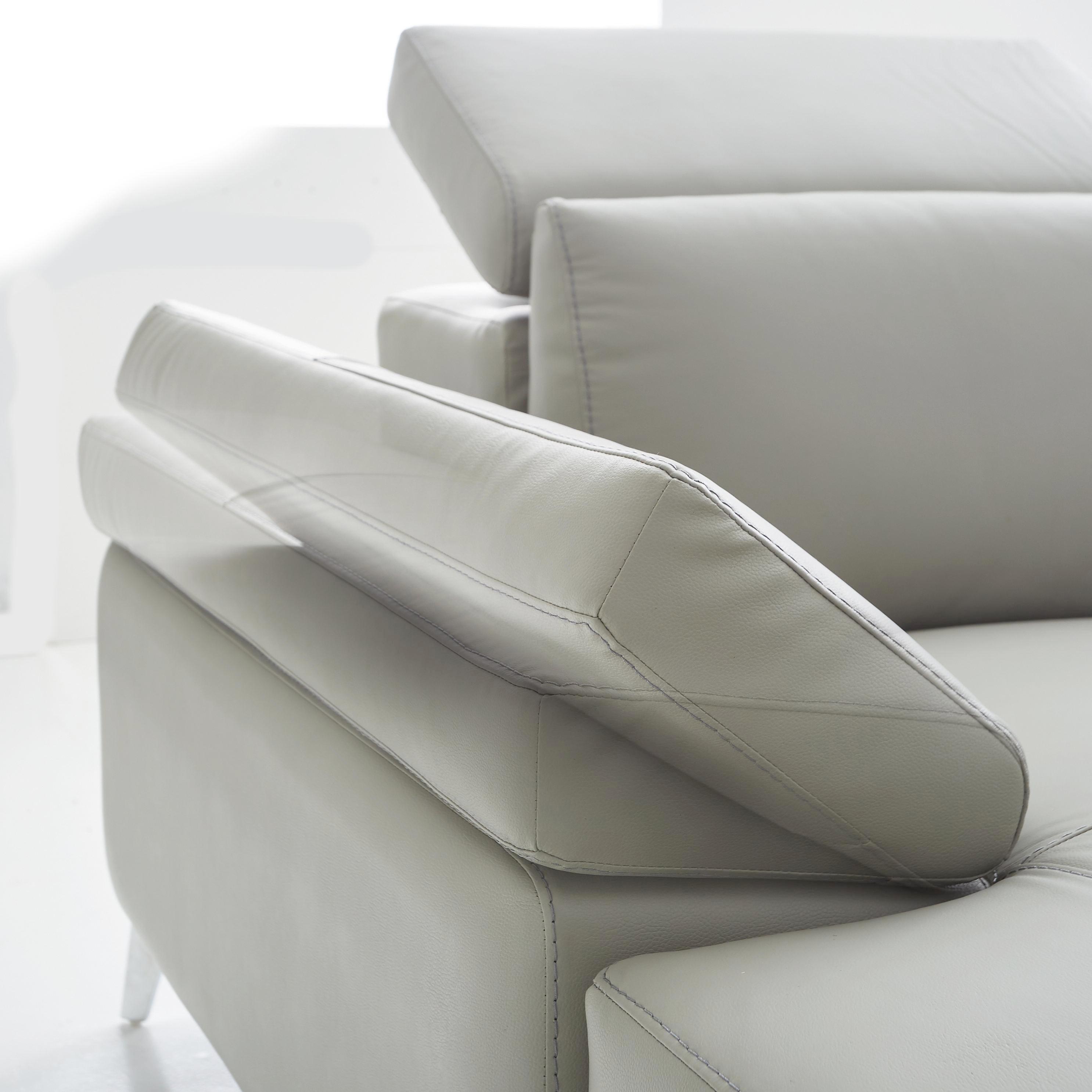 SJEDEĆA GARNITURA - svijetlo siva/boje kroma, Design, drvni materijal/koža (219/334/172cm) - XORA