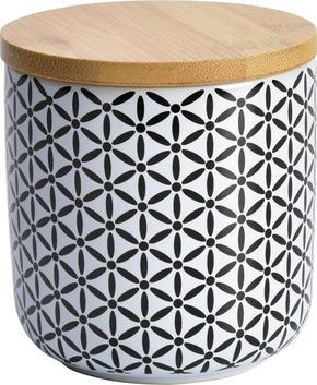 FÖRVARINGSBURK - vit/brun, Lifestyle, trä/keramik (10/11cm) - Landscape