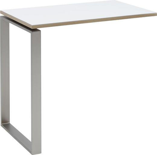 ANSTECKPLATTE Eichefarben, Weiß - Eichefarben/Weiß, Design, Glas/Metall (84,8/76/55,7cm) - Voleo