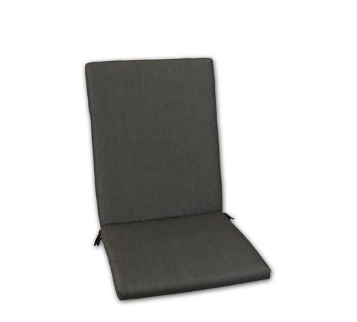 SESSELAUFLAGE Uni  - Graphitfarben, Design, Textil (50/109/4cm)